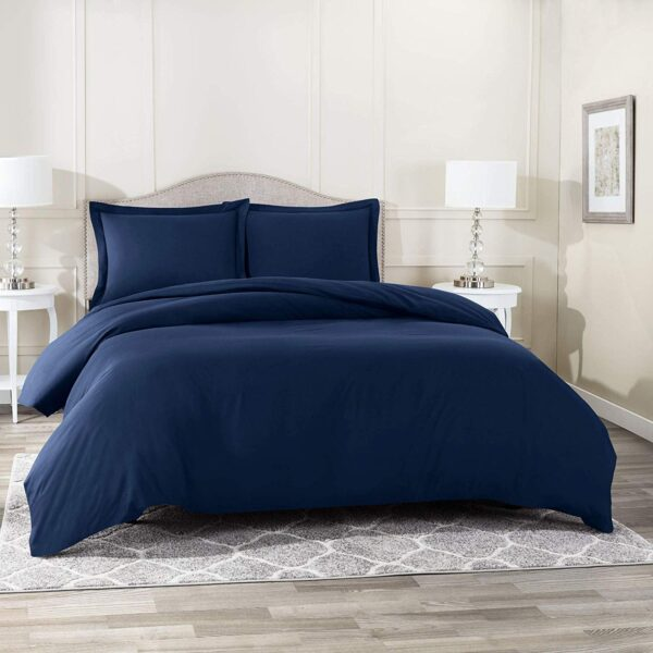Navy Blue Duvet Cover Set Aanya Linen Uk